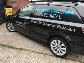 Mainstream Electrical Van Graphics