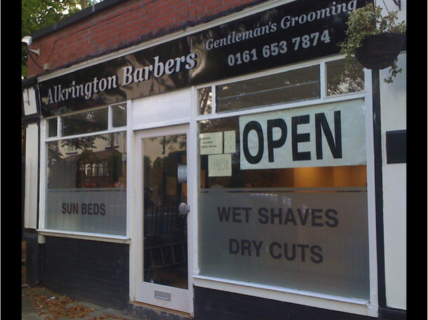 Alkrington Barbers Sign
