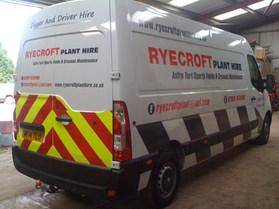Ryecroft Plant Hire Vehicle Graphics