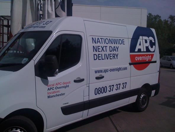 APC Vehicle Lettering