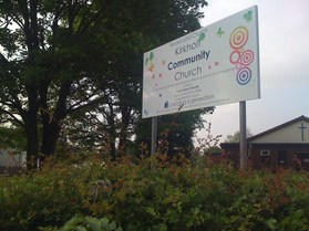 Church Sign on posts