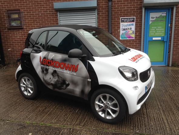Lockdown Smart Car Graphics