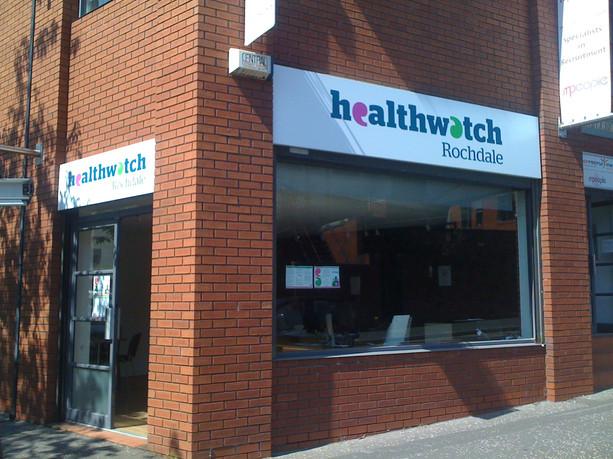 Healthwatch Rochdale Signs