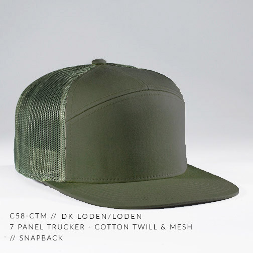 7 PANEL TRUCKER HAT OLIVE DRAB