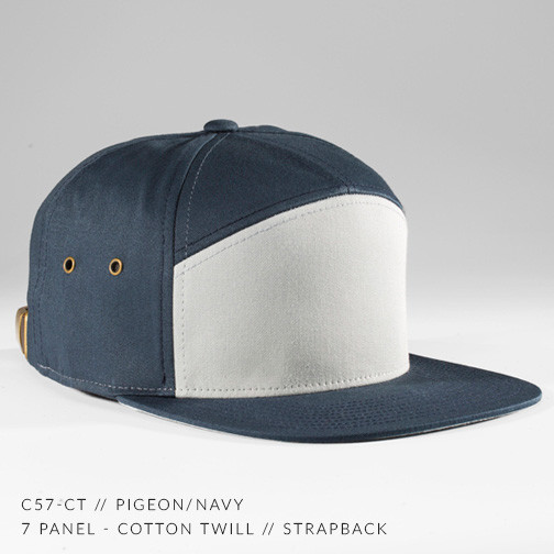 7 PANEL HAT NAVY/ GREY