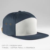 7 PANEL HAT NAVY/ GREY