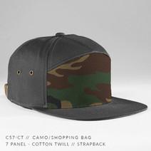 7 PANEL HAT CHARCOAL/ CAMO
