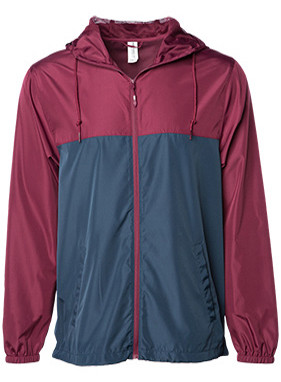 MAROON/BLK WINDBREAKERS