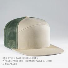 7 PANEL TRUCKER HAT TAN/ ARMY