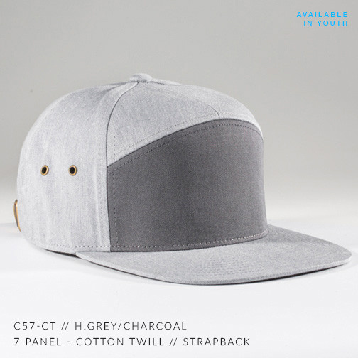 7 PANEL HAT HEATHER GREY/ GREY