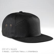 7 PANEL HAT BLACK