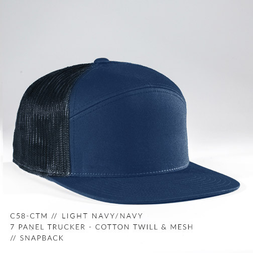 7 PANEL TRUCKER HAT NAVY/ NAVY