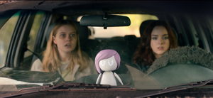 Angourie Rice and Madison Davenport in Black Mirror.  From GoombaStomp.com