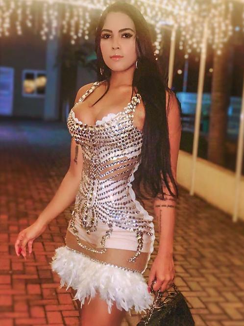 Vestido Pluma Luxo