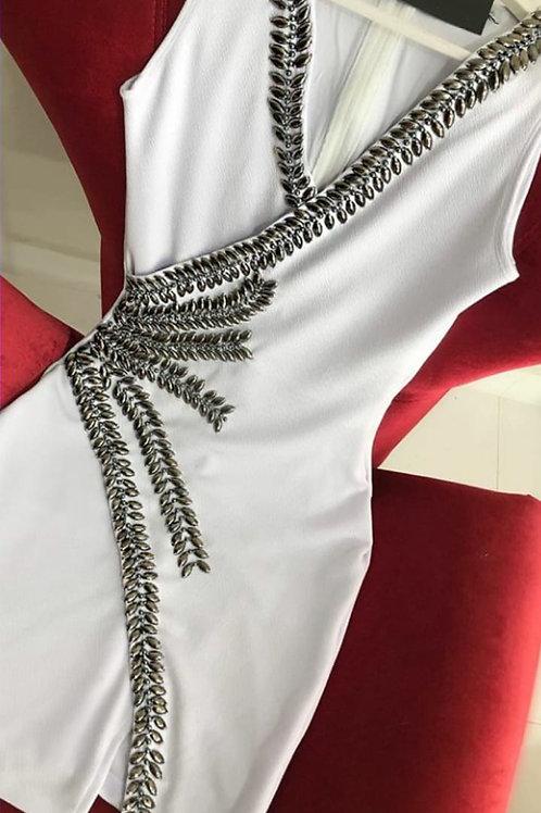 Vestido Bordado Ramos