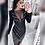 Thumbnail: Vestido Bordado Bicolor Glamour Franjas Presas