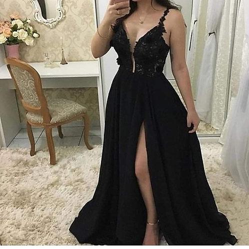 Vestido Longo Luxo Corpete