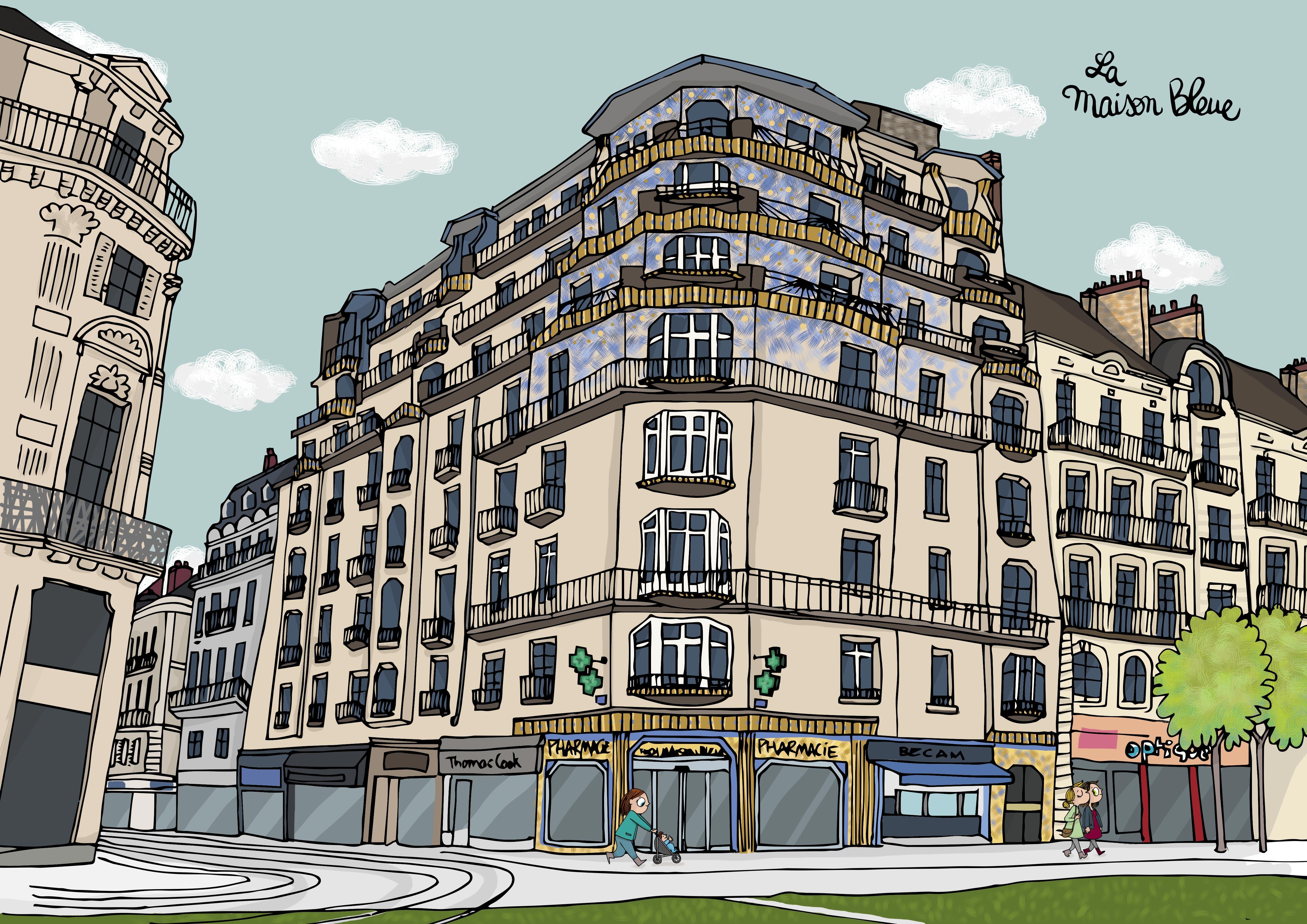 Illustration Maison Bleu Angers