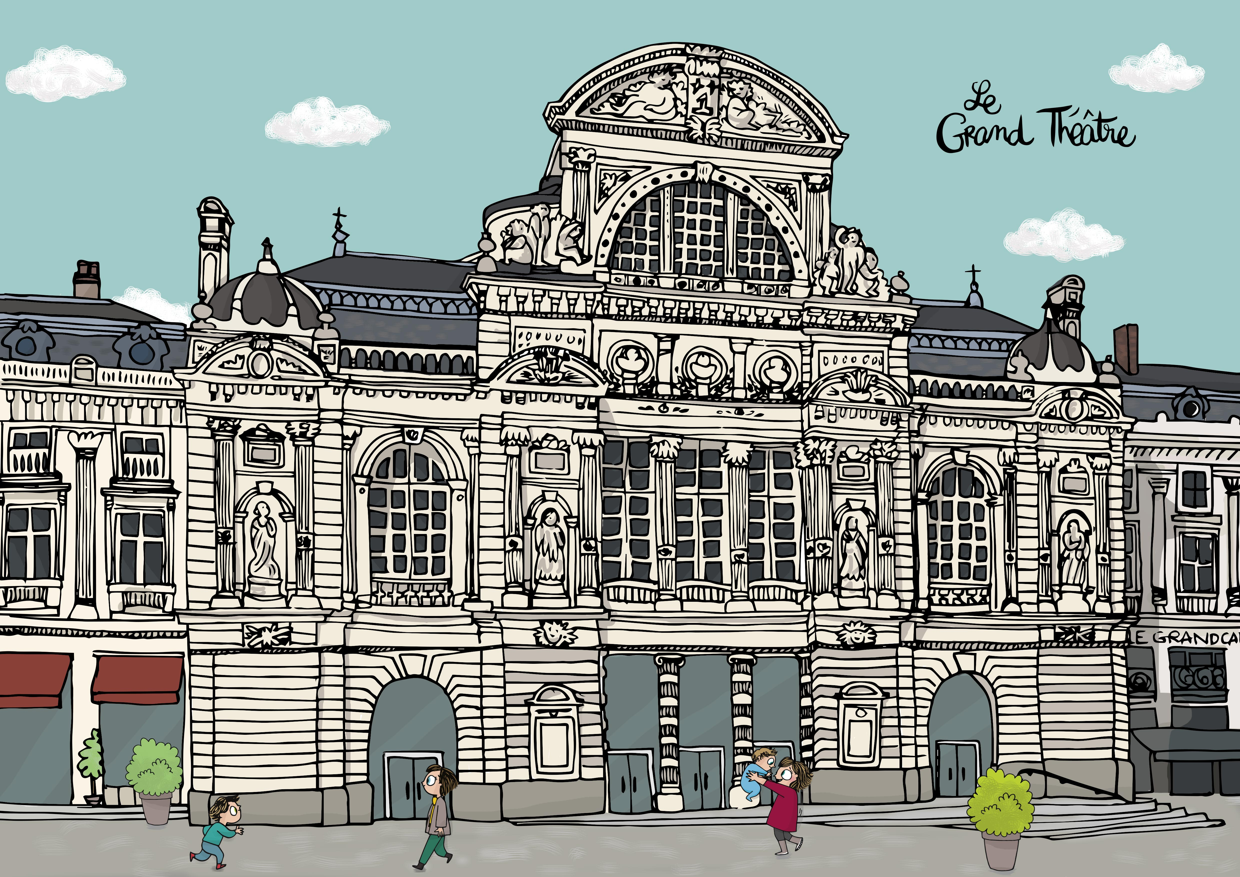 Illustration Grand Théâtre Angers