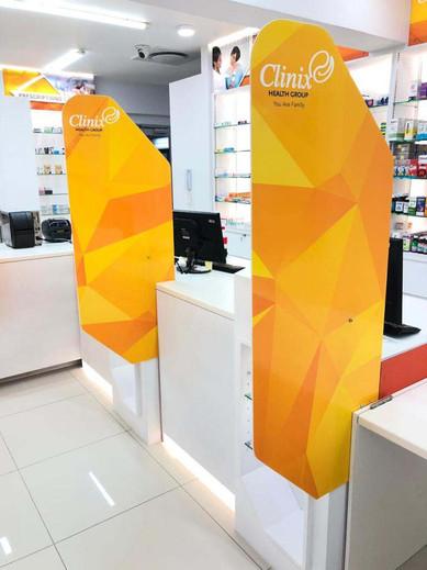 EDIT Clinix Pharmacy Signage & interior