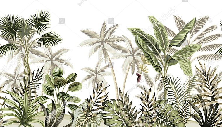 stock-vector-tropical-vintage-botanical-landscape-palm-tree-banana-tree-plant-floral-seaml