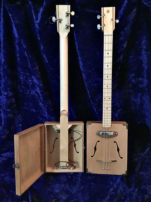 Three string Cigar Box Guitar – Floating Wood Bridge