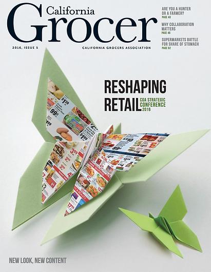 California Grocer redesign by Genevieve Buchanan