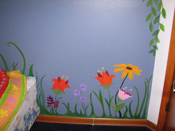 Fairy Garden Mural, Flowers