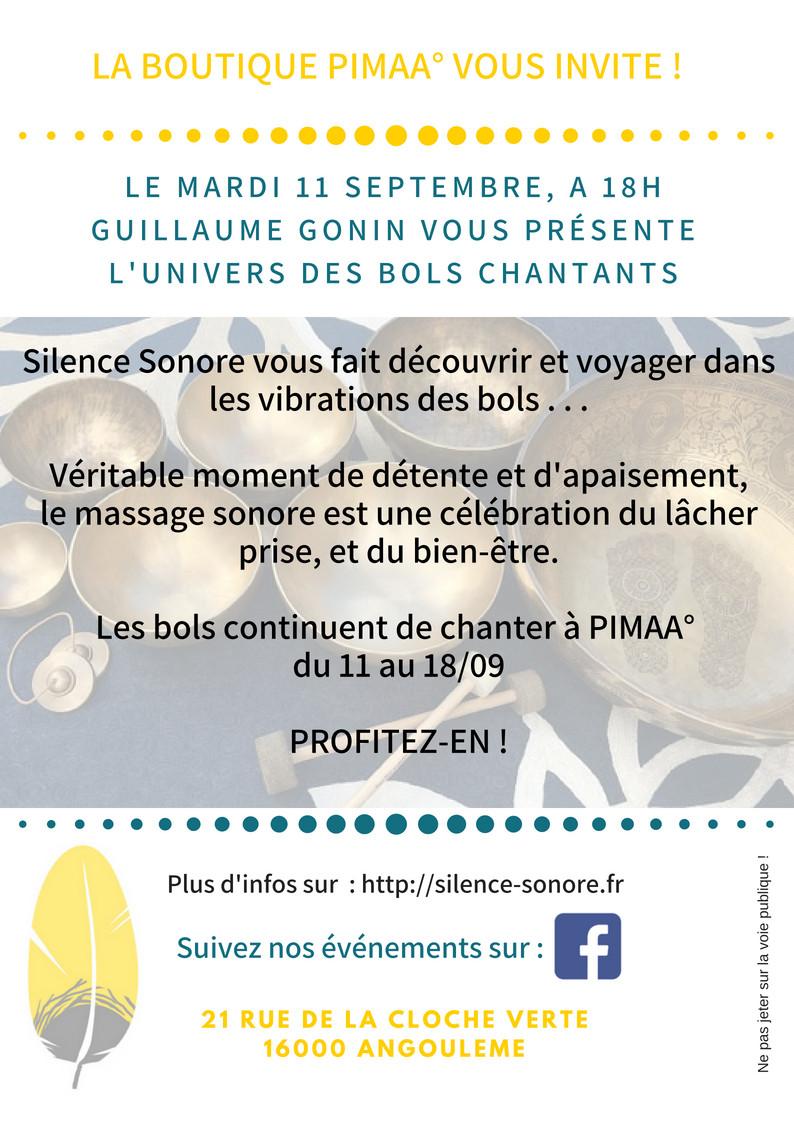 bols chantants boutique PIMAA Angoulême