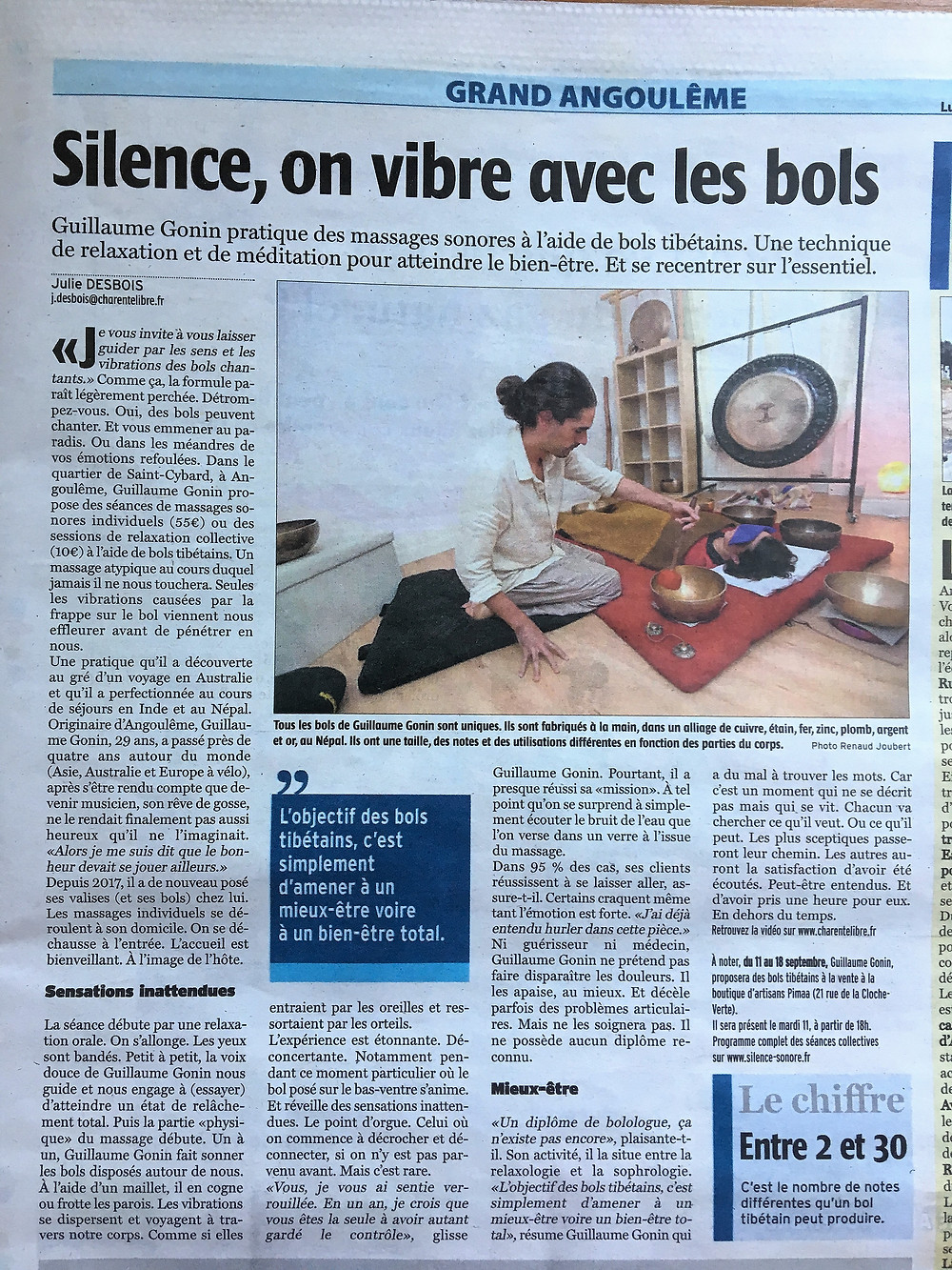 Silence Sonore Charente Libre