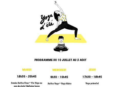 Cet été : Yin Yoga et bols chantants
