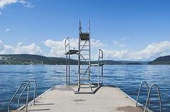 diving board into lake - springboard int
