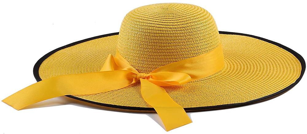 broad brimmed straw hat