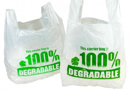 White Biodegradable Bags (Printed in Green)