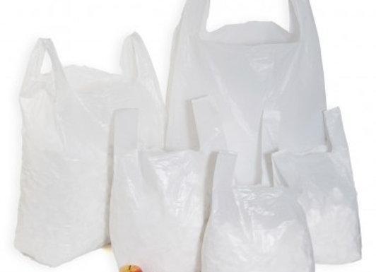 Medium-Large White High Tensile Carrier Bags