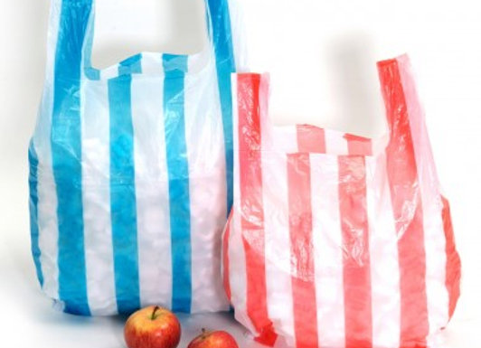 Striped Light Weight Plastic Carrier Bags