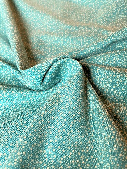 Jersey à pois bleu-vert