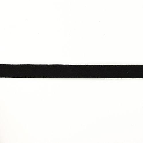 Biais coton Double Gaze - 20mm - Noir
