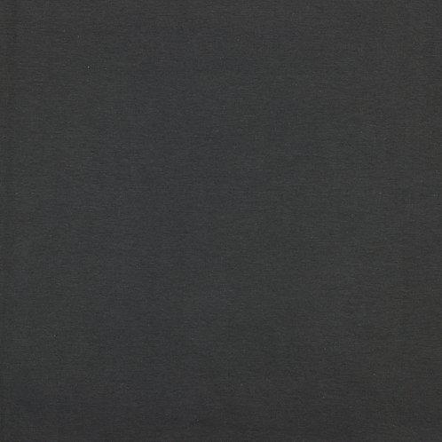 Bord côte jersey tubulaire GOTS - Coton bio - Anthracite