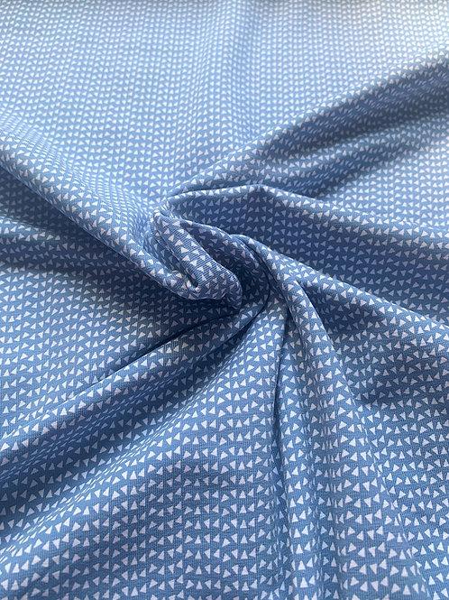 Jersey petits triangles - Bleu