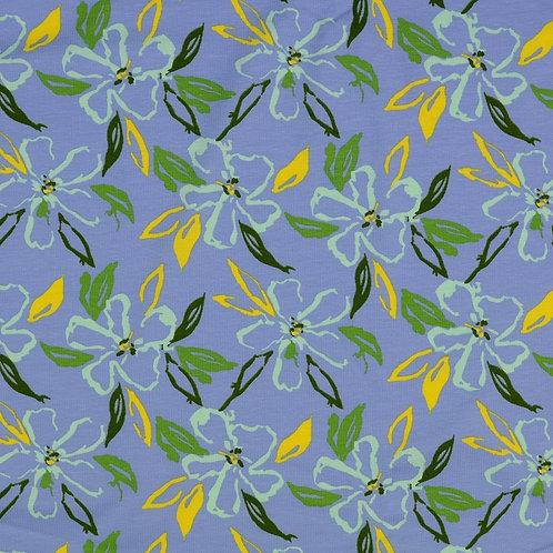 Jersey fleurs des iles - Bleu