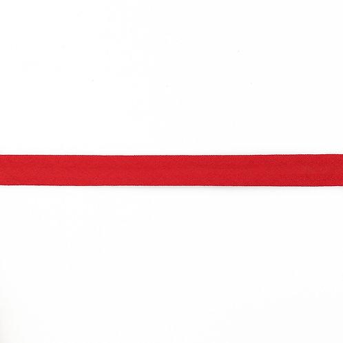 Biais coton Double Gaze - 20mm - Rouge