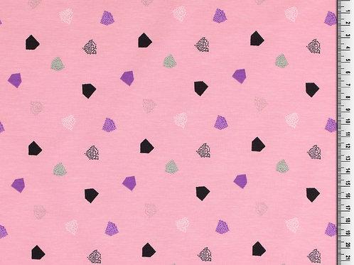 Jersey GOTS - Coton BIO -polygone - Rose