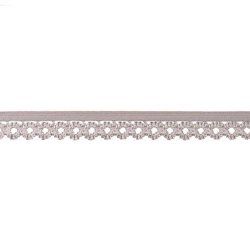 Elastique Dentelle 20MM - Gris clair