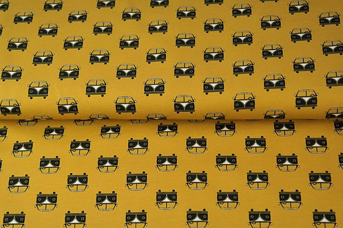 Popeline coton Van -Moutarde