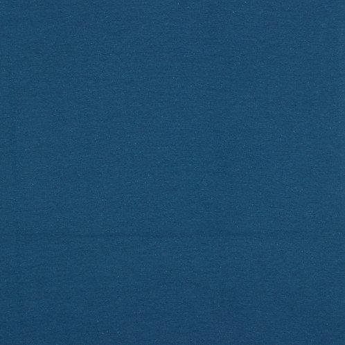 Bord côte jersey tubulaire GOTS - Coton bio -Bleu Jeans