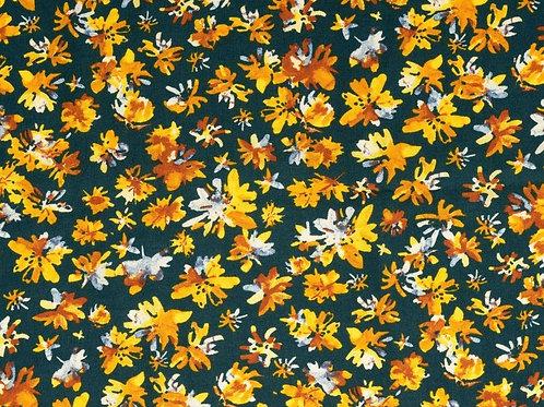 Copie de Viscose fleurs - marron