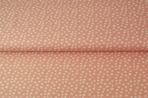 Popeline coton petites fleurs - Rose