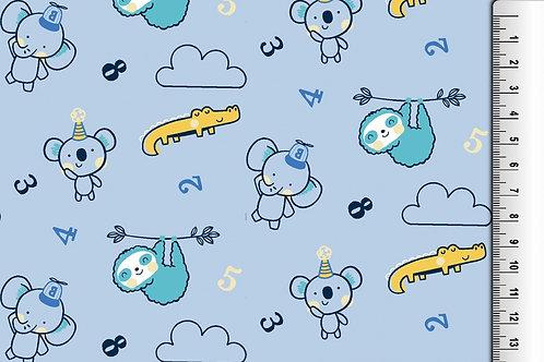 Jersey animaux dans les nuages - Bleu