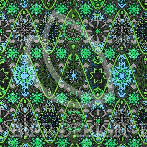 Jersey rosaces Vert-Bleu